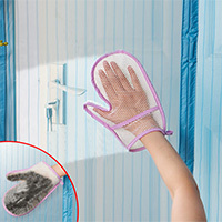 Hand type window screen door curtain dust removing cleaning gloves household cleaning cloth 24 20cm Free