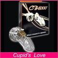 CB-6000 MALE Chastity Device Pene Lock Cock Jaula Claro para el Hombre Productos Eróticos