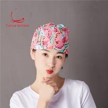 Operation cap mens and womens doctor nurse dental beauty salon pet hospital cartoon printing operating room