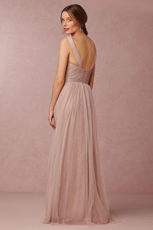 Vistoso Vestido De Dama De Champán Friso - Colección de Vestidos de ...