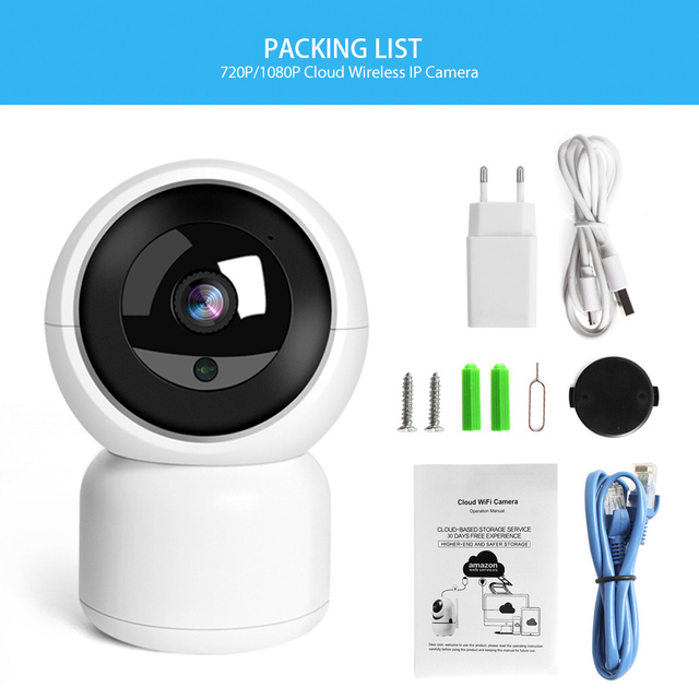 HD 1080P WIFI IP Camera 1.0MP 2MP Baby Monitor Auto Tracking Home Security WI-FI Cam PTZ Two Way Audio Surveillance CCTV Camera 5