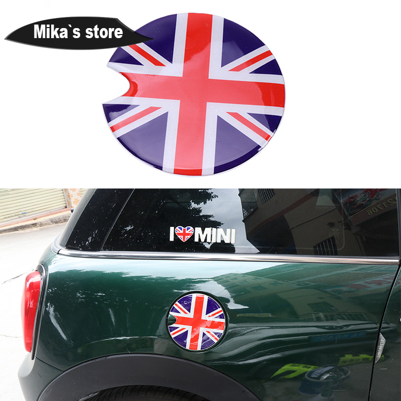 2PCS 3D Crystal Epoxy Car Back Handle Cover Sticker for Mini Cooper F55 F56