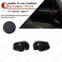 Car Accessories Carbon Fiber Mirror Cover Fit For 2001 2007 Mitsubishi Lancer Evolution 7 9 EVO 7 8 9 Side Mirror Cover