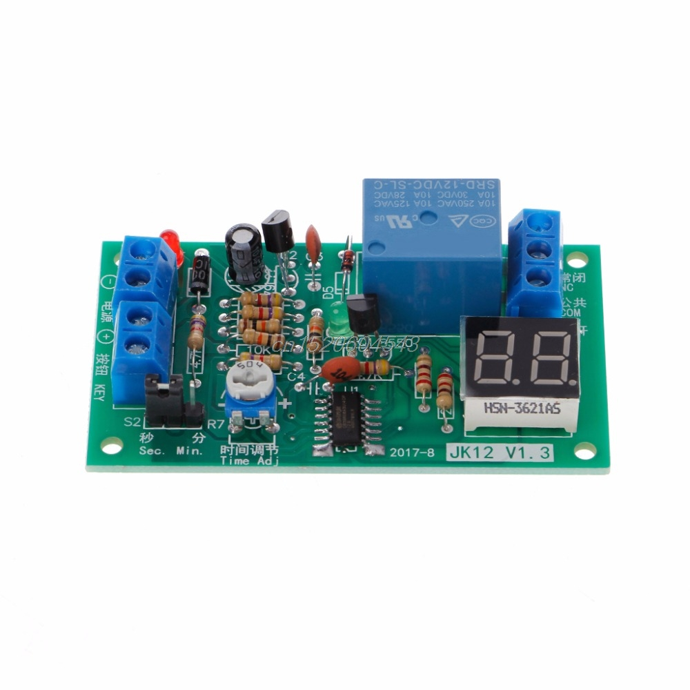 DC 12V Delay Relay Delay Turn off Switch Module with Led Timer Electrical Equipment Relays R06 Drop Ship 1pc timer delay relay delay turn on delay turn off switch module with timer dc 12v