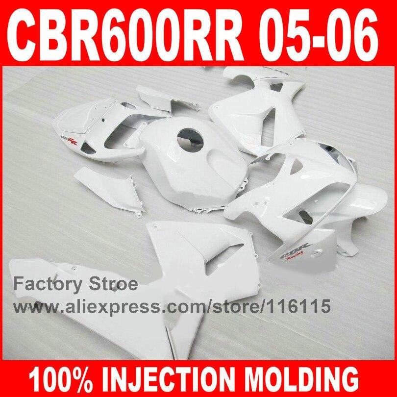 Custom factory store Injection Molding for HONDA CBR600RR fairings kit 2005 2006 CBR 600 RR 05 06 full white fairing parts