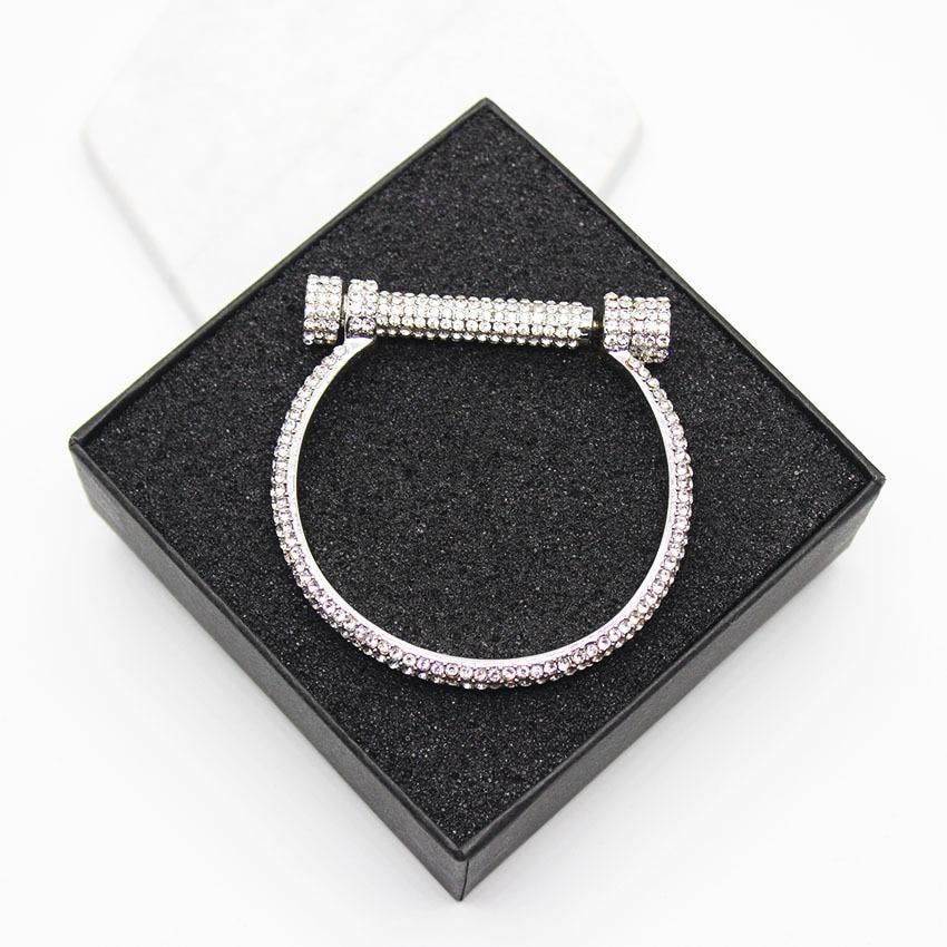 Esclusivo costume sezione Sit pieno a ferro di cavallo rhodium braccialetto braccialetto pieno braccialetto A Ferro di Cavallo 1047