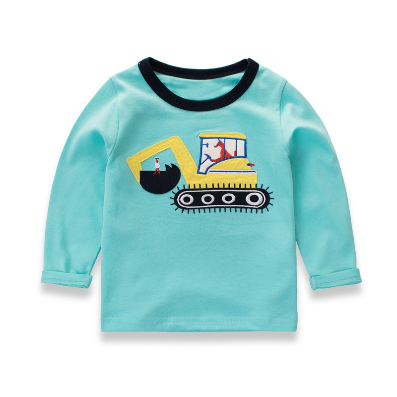 2017 Summer Baby Boys Pullover Sweater Cartoon Cars Pattern Knitted Sweater Cotton Children Clothing 4 Colors