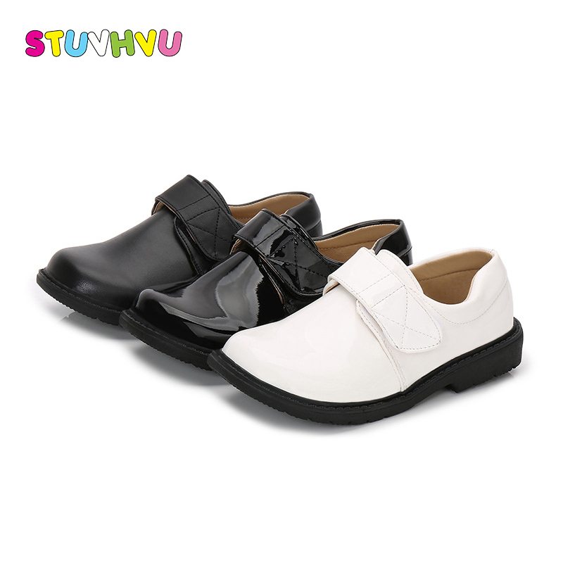 Boys black leather shoes 2018 spring and autumn new white dress shoes for boys fashion students children casual shoes for girlsBoys black leather shoes 2018 spring and autumn new white dress shoes for boys fashion students children casual shoes for girls
