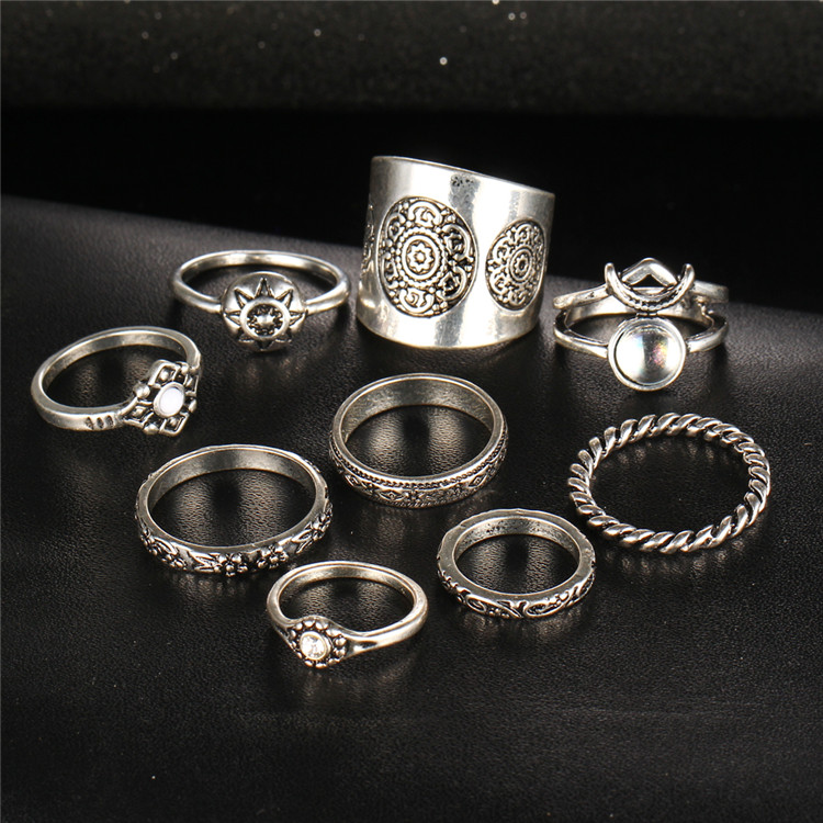 HTB1aKwkPXXXXXXUXpXXq6xXFXXXd 9-Pieces Antique Style Turkish Knuckle Ring Set For Women - 2 Colors