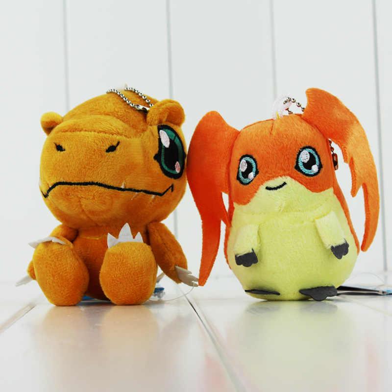 8 di stile Anime Digimon Agumon Gabumon Tailmon Tentomon Gomamon Piyomon Palmon Patamon portachiavi portachiavi Giocattolo Della Peluche Ciondolo Morbido