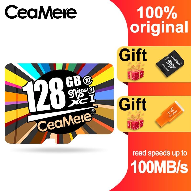 CeaMere Micro SD Card  Class10 UHS-1 8GB Class6 16GB/32GB U1 64GB/128GB/256GB U3 Memory Card Flash Memory Microsd For Smartphone