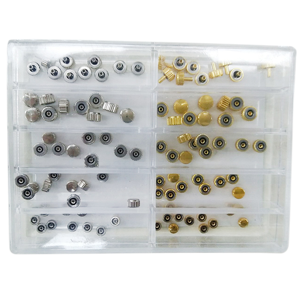 100pcs Gold And Silver Watch Head With Box Watch Accessories Repair Tool Kit Box Case For Watchmaker