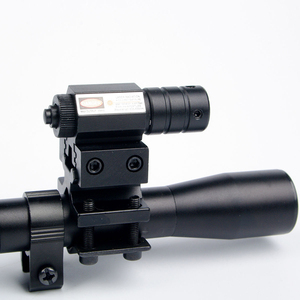 Image 3 - 4x20 оптический прицел для винтовки, тактический арбалетный оптический прицел с красной точкой, лазерным прицельным креплением 11 мм для 22 калибра оружия, охоты