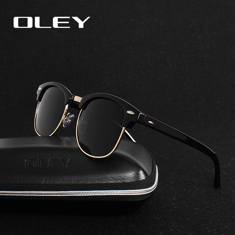 OLEY brands Unisex Classic Sunglasses men women polarized Retro Sun Glasses coating lens candy women goggles Oculos gafas Y3016 in Men 39 s Sunglasses from Apparel Accessories