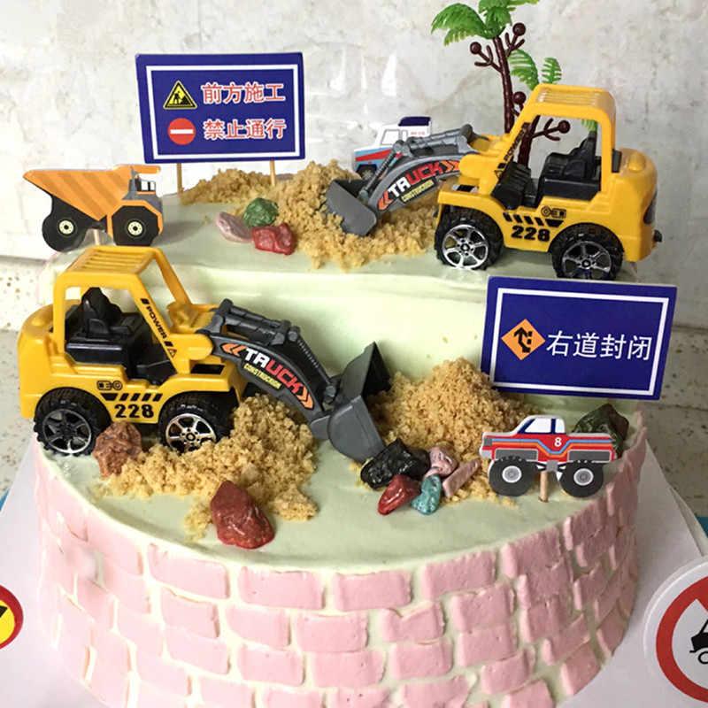 Phenomenal 6Pcs Engineering Vehicles Truck Cake Topper Kids Birthday Party Funny Birthday Cards Online Amentibdeldamsfinfo