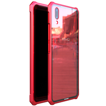 High-end ultra-thin metal frame Tempered glass mirror shell For VIVO X21 case cover. vivox21