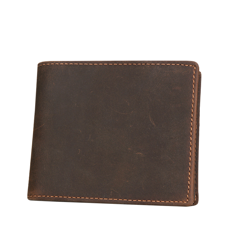Genuine Leather Wallets for Men Dollar Price Carteira Zipper Coins Purses with RFID Cards Slots Short Walets Male Clutches Bolsa