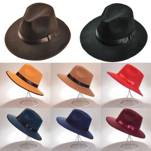 Hippie Unisex Men Black Jazz Wool Trilby Bowler Fedora Panama Hat Gentlemen  Ladies Cap Hats-in Fedoras from Apparel Accessories on Aliexpress.com  5f28aa685466