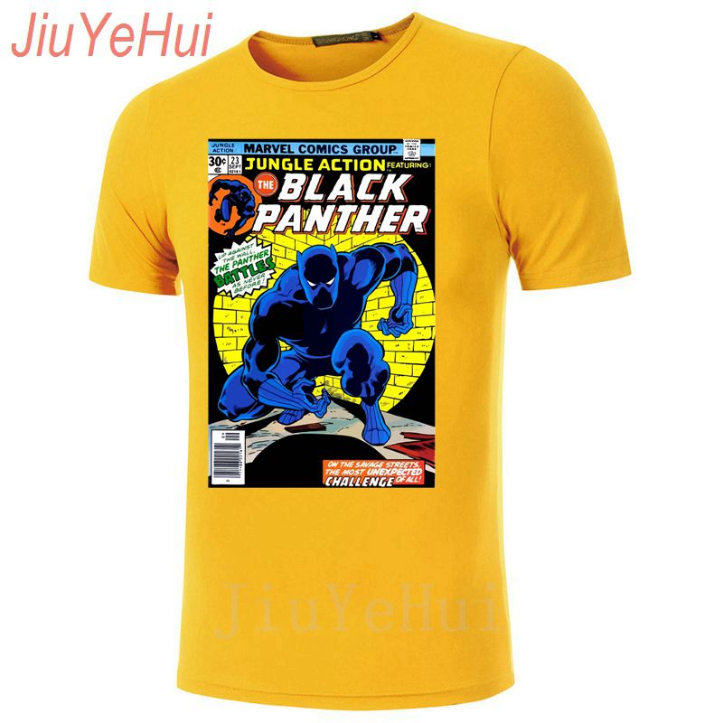 7fe2829b2a9 New Vintage Cover Africa Wakanda King Black Panther T Shirt Captain America  Civil War T shirt Men Marvel Avengers iron Top Tee-in T-Shirts from Men s  ...