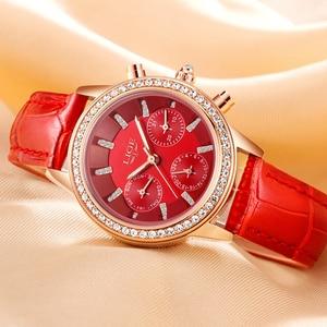 Image 5 - Relogio Feminino Women Watches LIGE Luxury Brand Girl Quartz Watch Casual Leather Ladies Dress Watches Women Clock Montre Femme