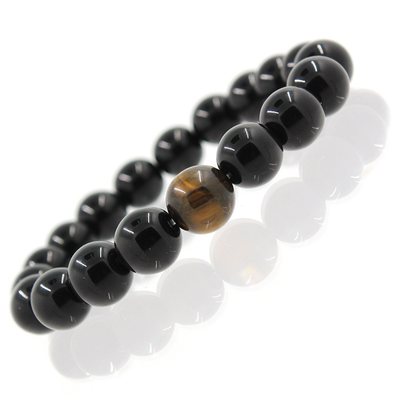 8 10 12mm Natural Black jewelry with Tigs
