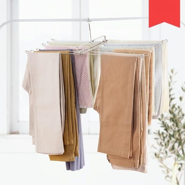 Edelstahl aufhänger falten wäscheständer balkon handtuchhalter ...