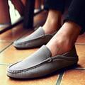 SYTAT Мужчины Повседневная Обувь 2016 Мужская Мода Кожаные Ботинки Мужчины Мокасины Мокасины Поскользнуться На Квартиры Бездельники Мужской Обуви