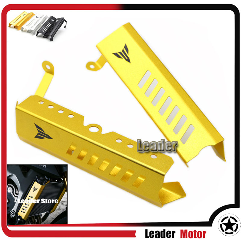 ФОТО For Yamaha MT09 FZ09 MT-09 FZ-09 2013 2014 2015 2016 Motorcycle Accessories Aluminum Radiator Grille Side Cover Guard Protector