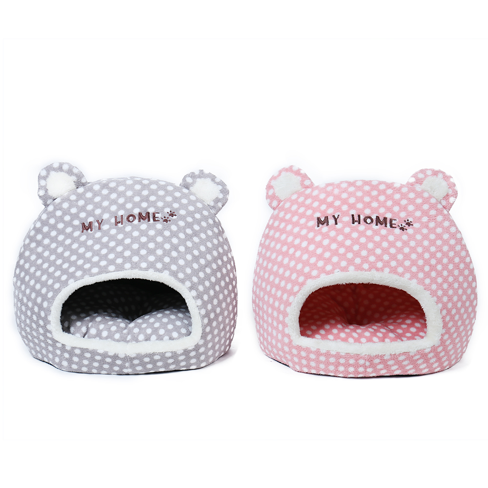 Free Shipping Cute Warm Soft House For Cat Basket Small Medium Puppy Litter Dog Bed Lounger For Animal Cama Home Kennel Cave #3