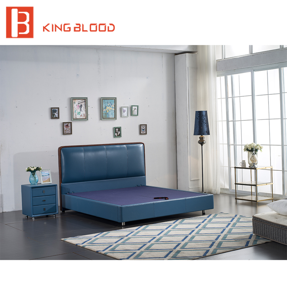 Cheap Price Queen Size Wooden Platform Bed For Bedroom Sets