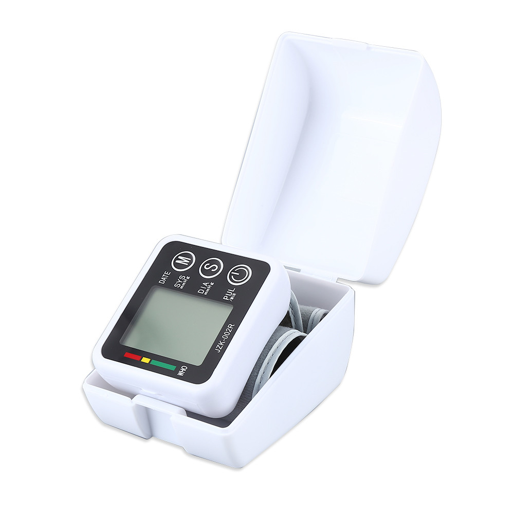 Digital LCD Wrist Blood Pressure Monitor Heart Beat Rate Pulse Meter Measure Household Health Care Device New With Cae JwXb 6
