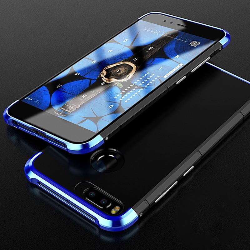 for Xiaomi mi 5X Mi5x case Luxury Metal aluminum + PC back cover capa for Xiaomi Mi A1 MiA1 5.5