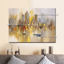 New York City Painting Home Decor Decoration Oil painting Wall Pictures for living room paint art