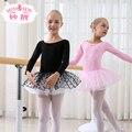 Crianças Vestido de Ballet para Crianças Roupas De Dança Crianças Vestidos para Meninas Ginástica Dança Ballet Tutu Leotard Dancewear Menina Crianças B-4660