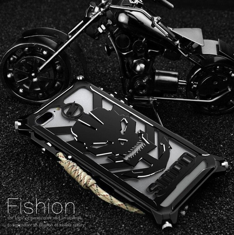 imágenes para Simon actualización diseño gatillo de parachoques del metal para el iphone 7 7 más prima de aviación de parachoques de aluminio del teléfono coque caso edición táctica