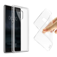 For NOKIA 6 Case with Screen Protector IMAK Soft TPU Gel Clear Case For Nokia 6 Transparent Case Slim Phone silicone Back Cover x shaped protective tpu back case for nokia 720 transparent