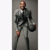 2017 Light Grey Custom Made Light Middle Grey men Suits Tailor Made Light Medium Gray Suit For men Gray Wedding Suits For Men