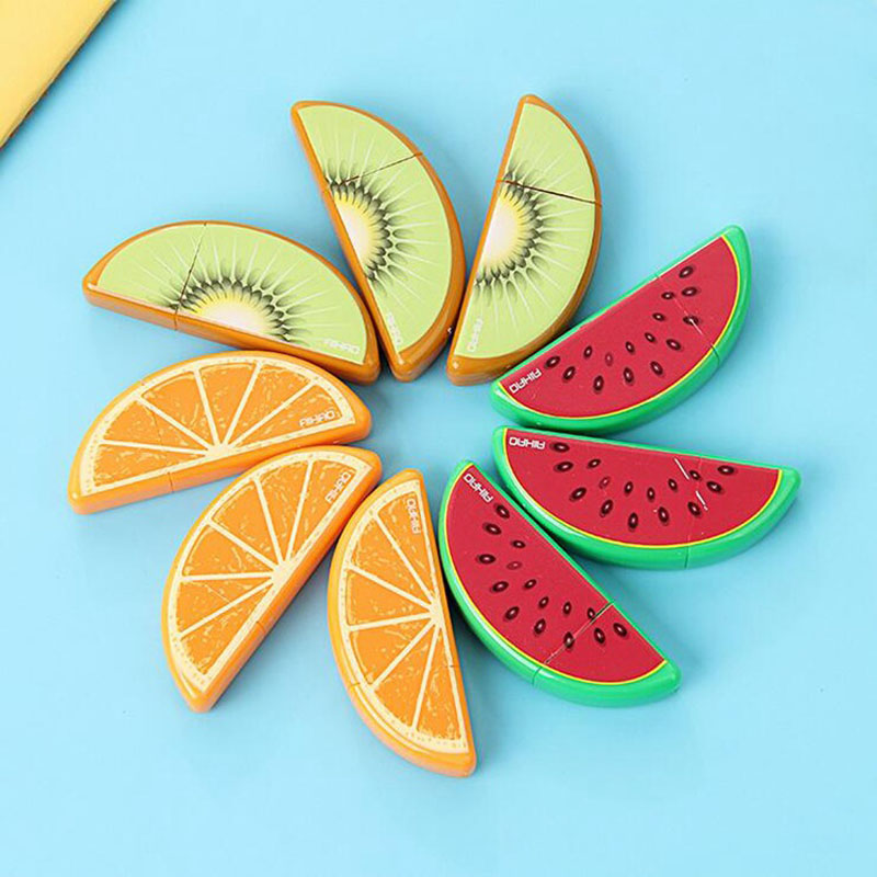 Set Of 3pcs Fresh Cute Kawaii Lifelike Fruit Correction Tape Fita School Office  Supplies Stationery Papeleria Birthday Gift
