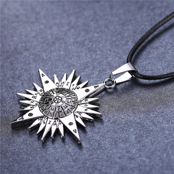 Anime D.Gray-man Silver Color Allen Logo Pendant Necklace Accessories