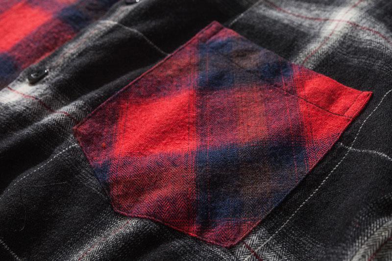 Vintage Contrast Color Block Plaid Shirt 4