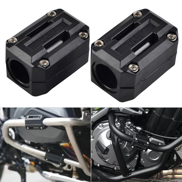 Motorcycle Engine Protection Guard Bumper Decor Block for Benelli TRK 502 & for Triumph 900 STREET TWIN Crash Bar bumper guard-in Falling Protection from Automobiles & Motorcycles