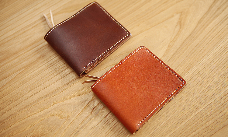 LAN Free shipping men's leather handmade wallet short small wallet antique men's leather purse