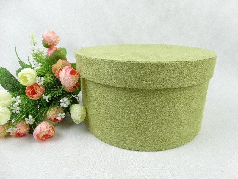 Clearance 21X12.5cm green top grade velvet florist packing gift flower box valentine's day gift box wedding decoration favor