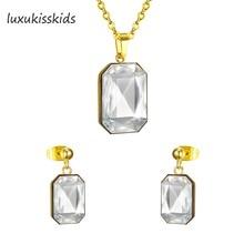 dde62e39700f LUXUKISSKIDS Venta caliente extravagante mujeres determinado de la joyería  con AAA Crystal