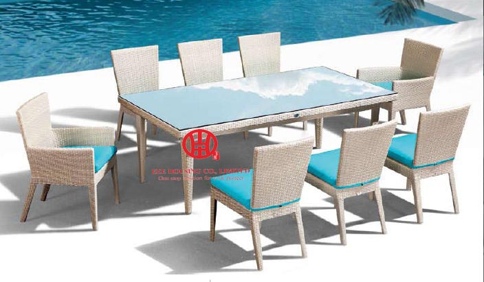 Outdoor Furniture Rattan Dining Table And Chair Set,Luxury Furniture Living Room And Dining Room Set