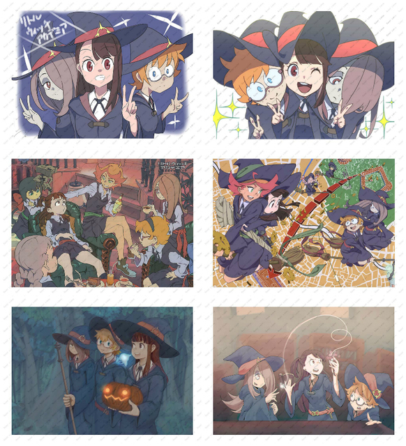 Little Witch Academia White kraft paper poster wallpaper wall sticker Decorative paintings Japanese anime Poster
