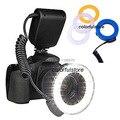 Rf-550 RF550 Circular Macro 48 unids LED anillo de luz de Flash Speedlite para Canon Nikon Olympus 49 mm - 77 mm anillo adaptador de lente