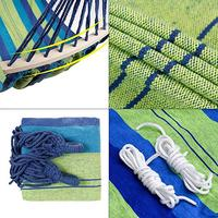 2Person Cotton Fabric Canvas Travel Hammock 450LBS Hot Sale rainbow Outdoor Leisure Double collapsible canvas Hammocks with bag