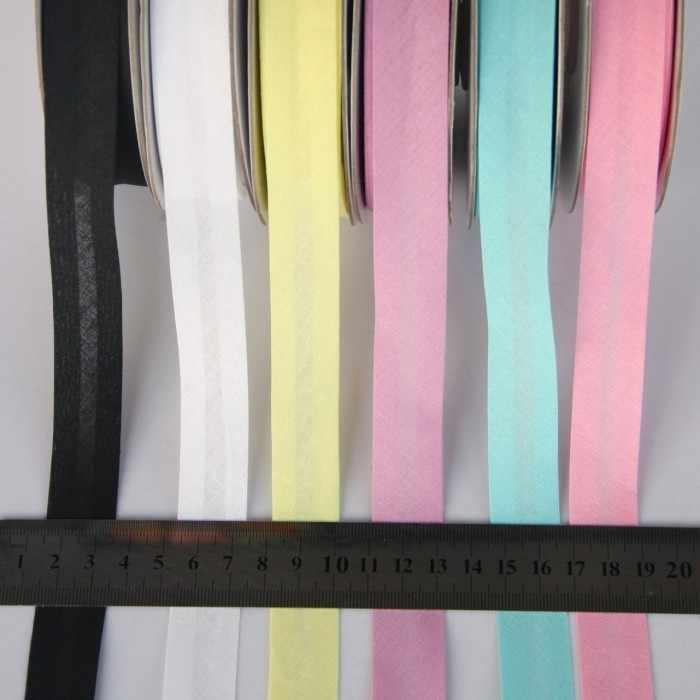 """20mm(3/4 """") de ancho, plancha, pliegue único de algodón, cinta de polarización para prendas, colcha, manualidades DIY"""
