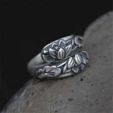 925 Jewelry Silver Ring Fine Nice Lotus Flower Finger Top Quality Sterling Gift Wholesale